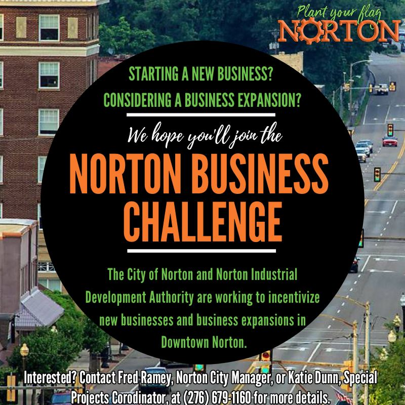 Picture of a flyer advertising the Norton Business Challenge