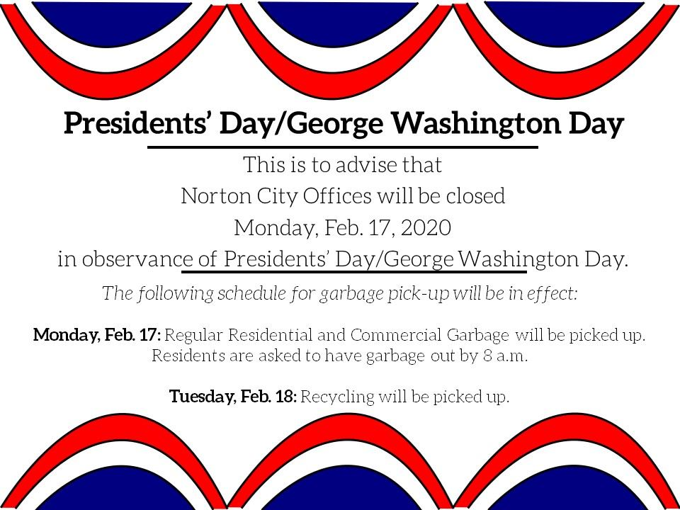 Photo of flyer announcing office closures for President&#39s Day