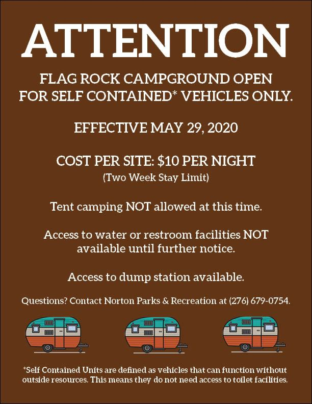Photo of camping notice flyer