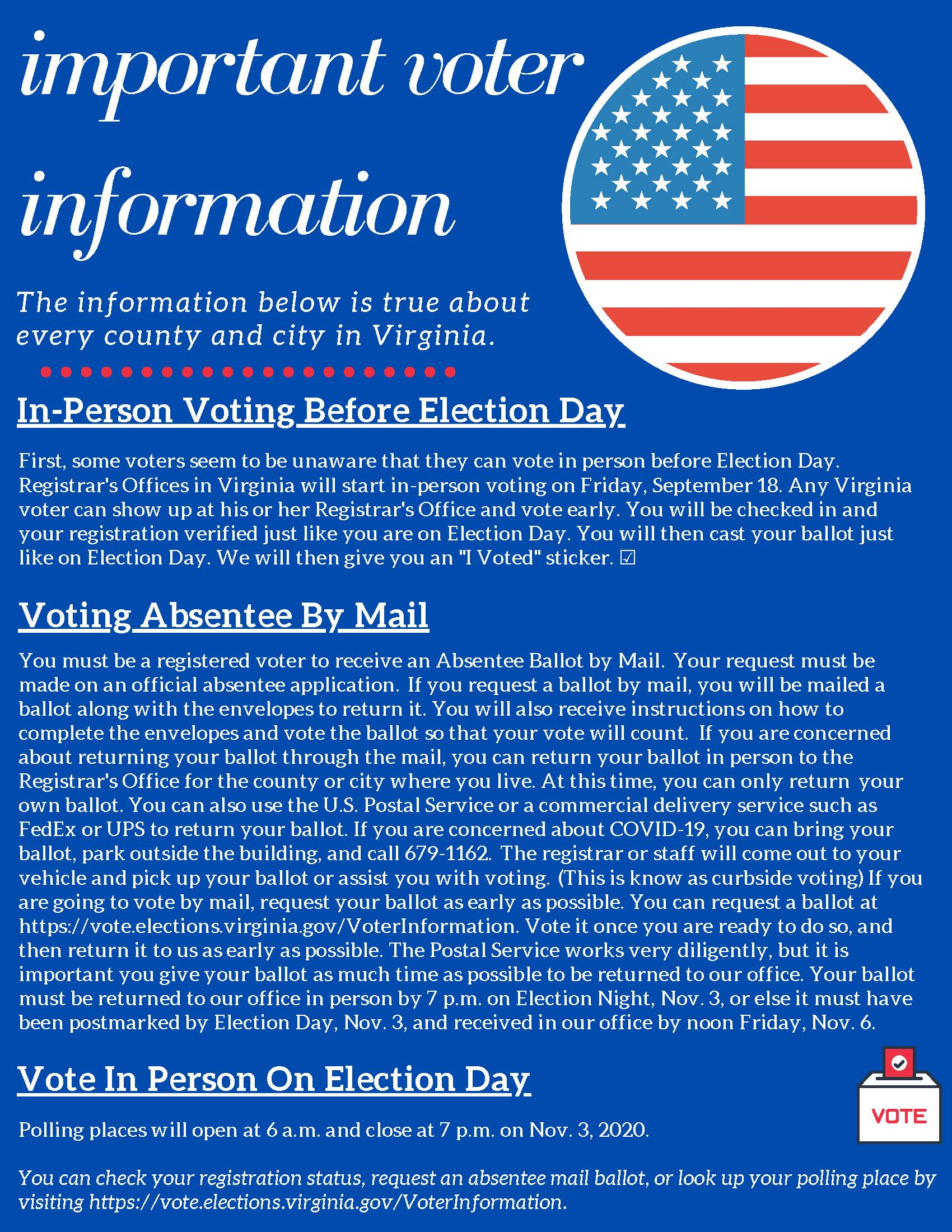 voter information flyer