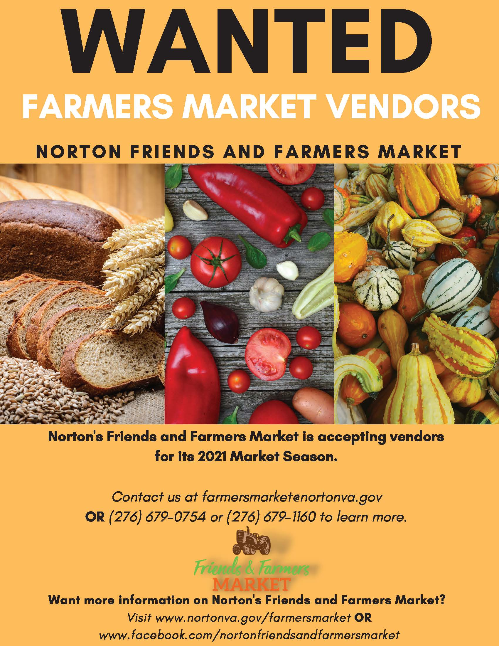 Photo of advertisement for farmers market vendors