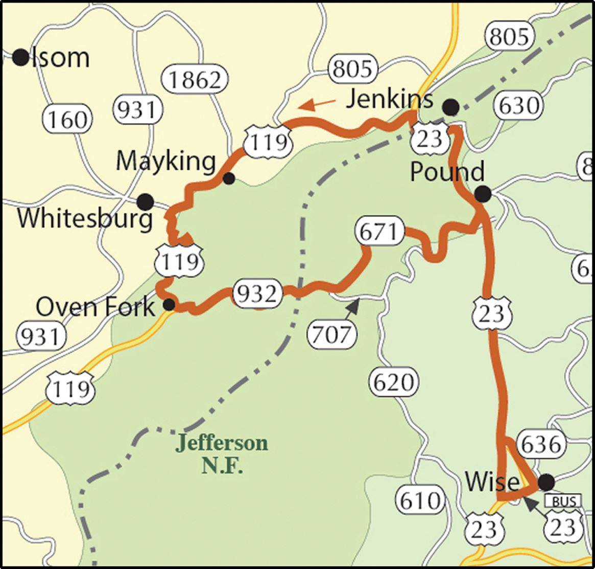 Photo of Strippers Run Motorcycle Route Map