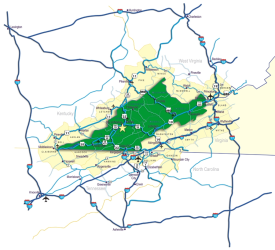 Map of area interstates