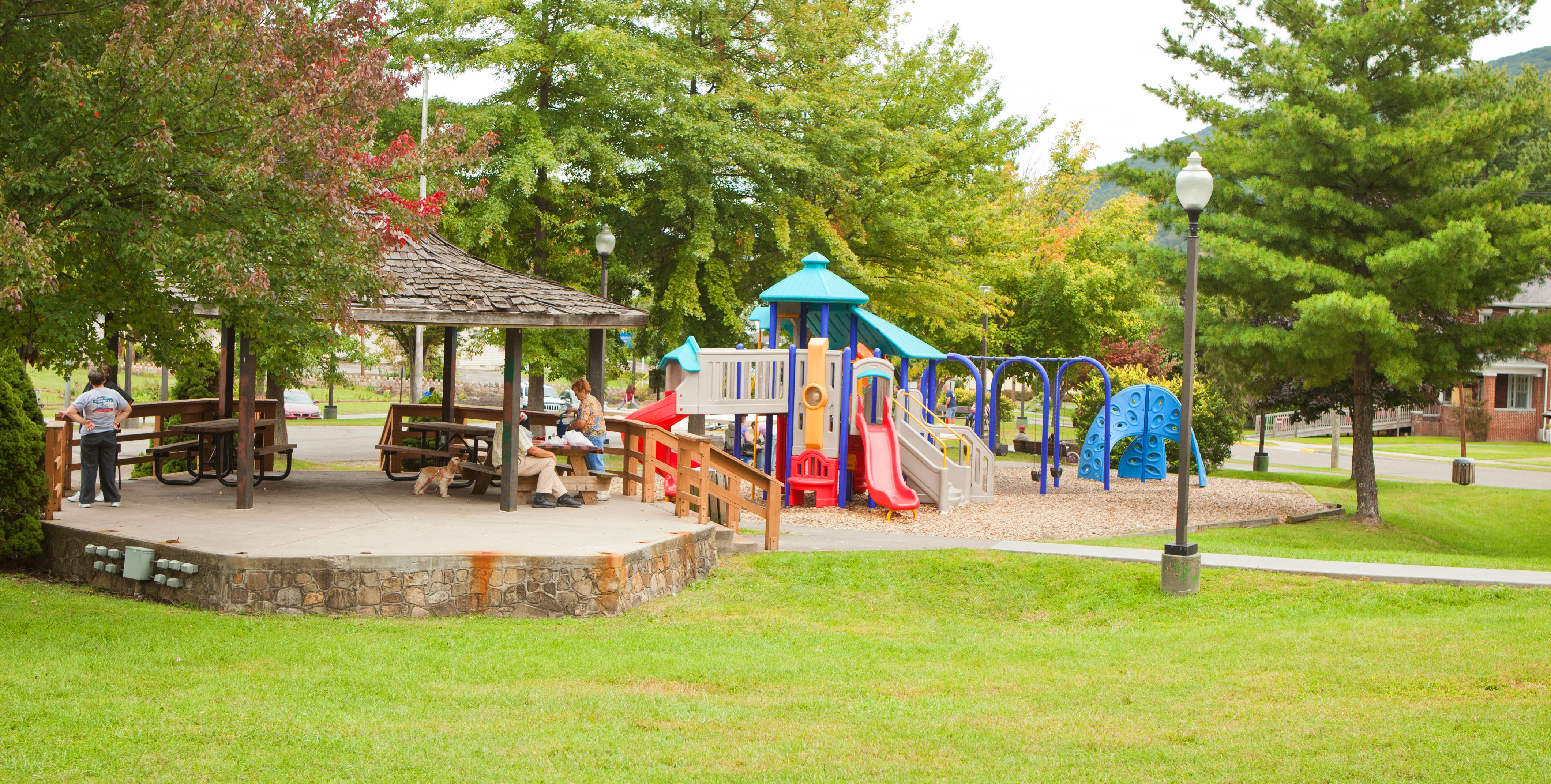 Picture of Norton City Park gazebo and playground equipment