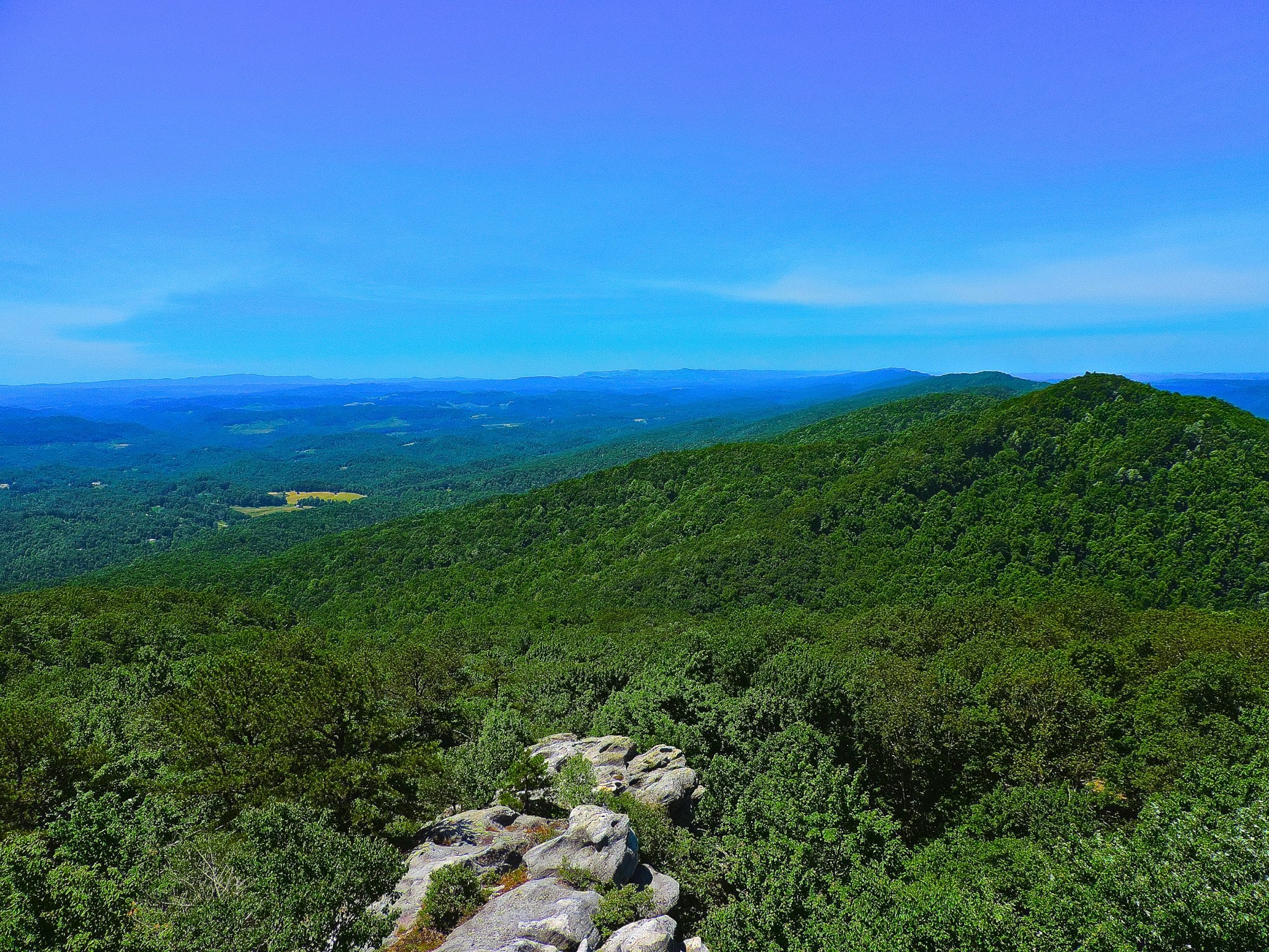 Picture of view from Birch Knob observation deck